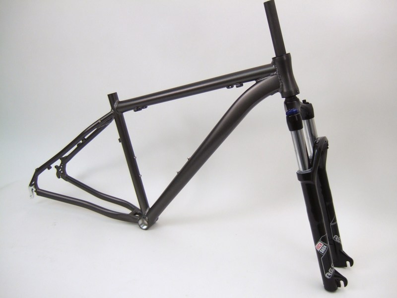 Parts Unbranded 29er Gravity Point 4 Frameset Rock Shox Recon Silver TK Image