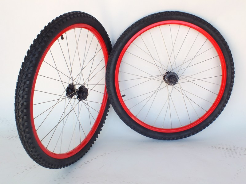 Parts 750 HT 26 in Mountain Bike Wheel RED Image