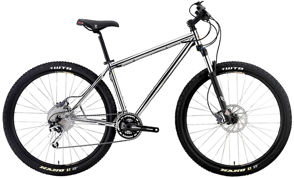 Bikes Motobecane 9Iron Elite CHROME Shimano XT/SLX, 30 Speed Reynolds Steel 29er Mountain Bike Image