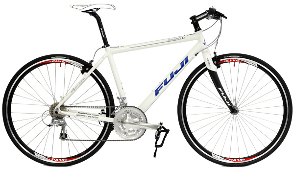 Bikes Fuji Absolute 1.0 Shimano 105 30 Speed Flat Bar Road Bike Image