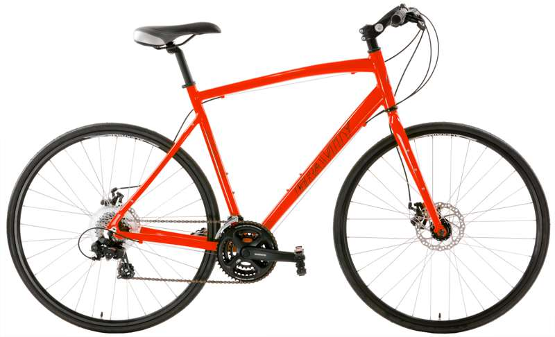 Bikes Gravity Ave FXD Shimano 21 Spd Flat Bar Disc BrakeHybrid Adventure Road Bike   Image