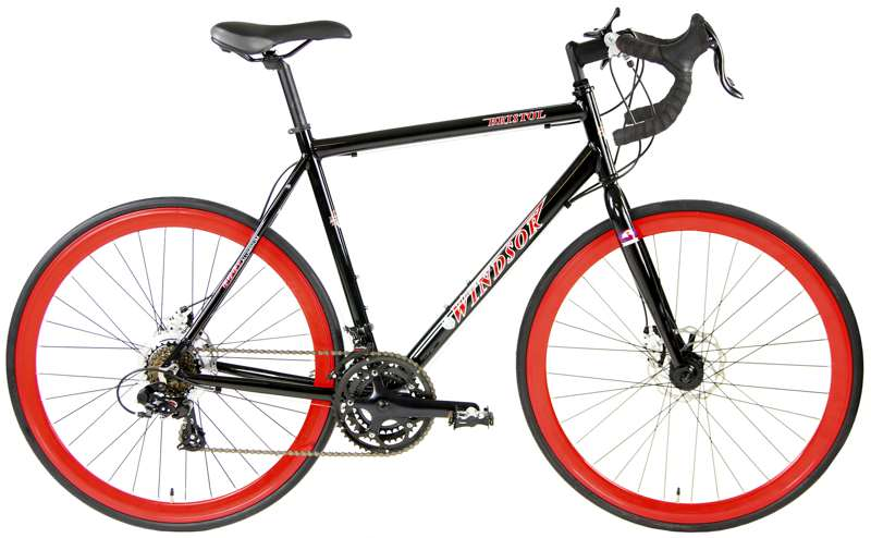 Bikes Windsor Bristol 2.0 Shimano 21 speed Disc Brake CroMo Fork Road Bike  Image