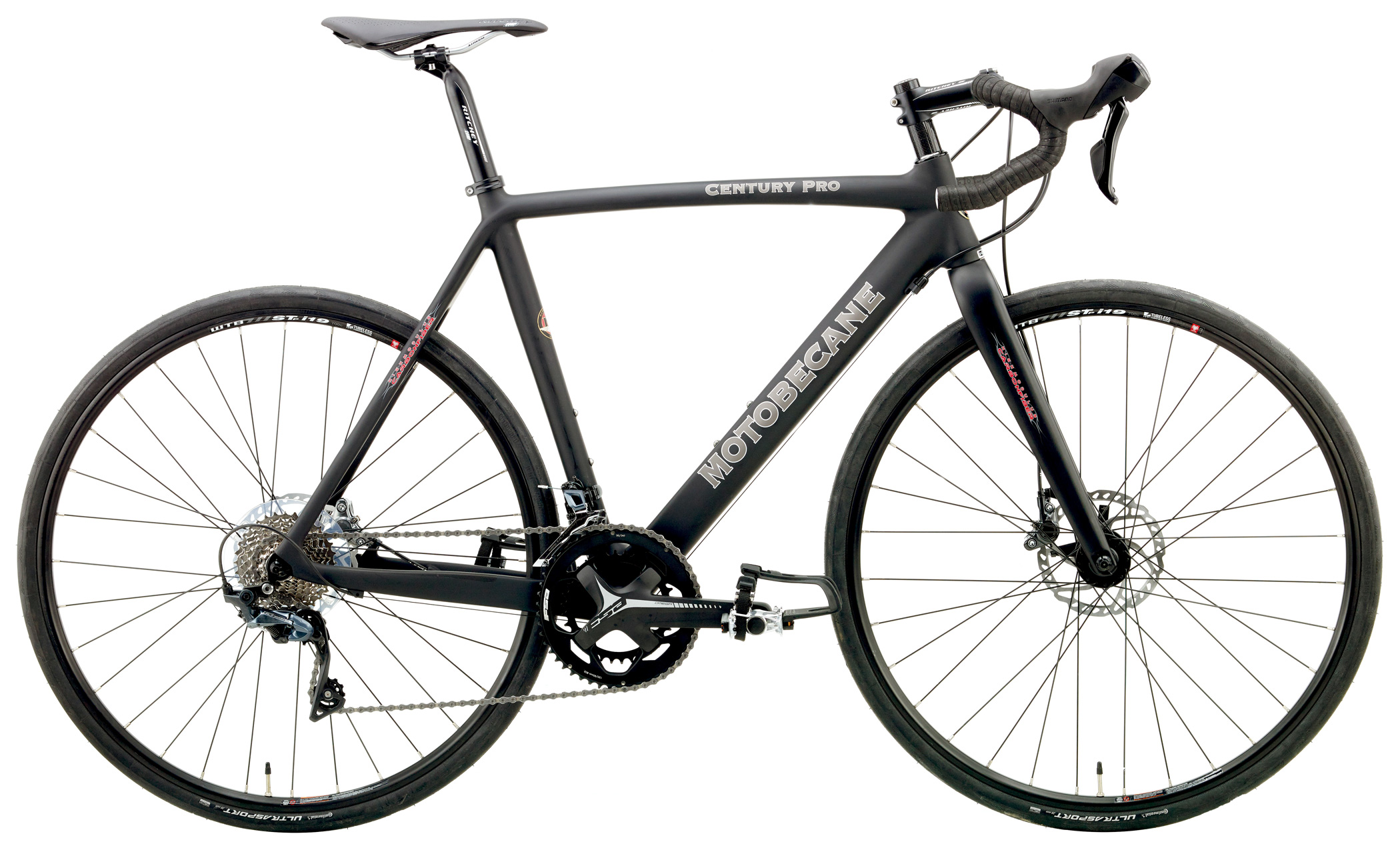 Bikes 2019 Motobecane Century Pro Disc Brake Road Bike Shimano 8000 Equipped Image