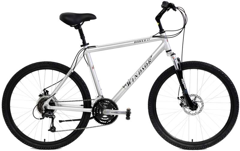 Bikes Windsor Dover 3.0 Disc Brakes Shimano 24 Speed Suntour Front Suspension Hybrid Bike Image