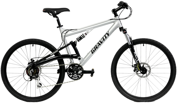 Bikes Gravity FSX 2.0 Dual Suspension Mountain Bike with disc Brakes Image