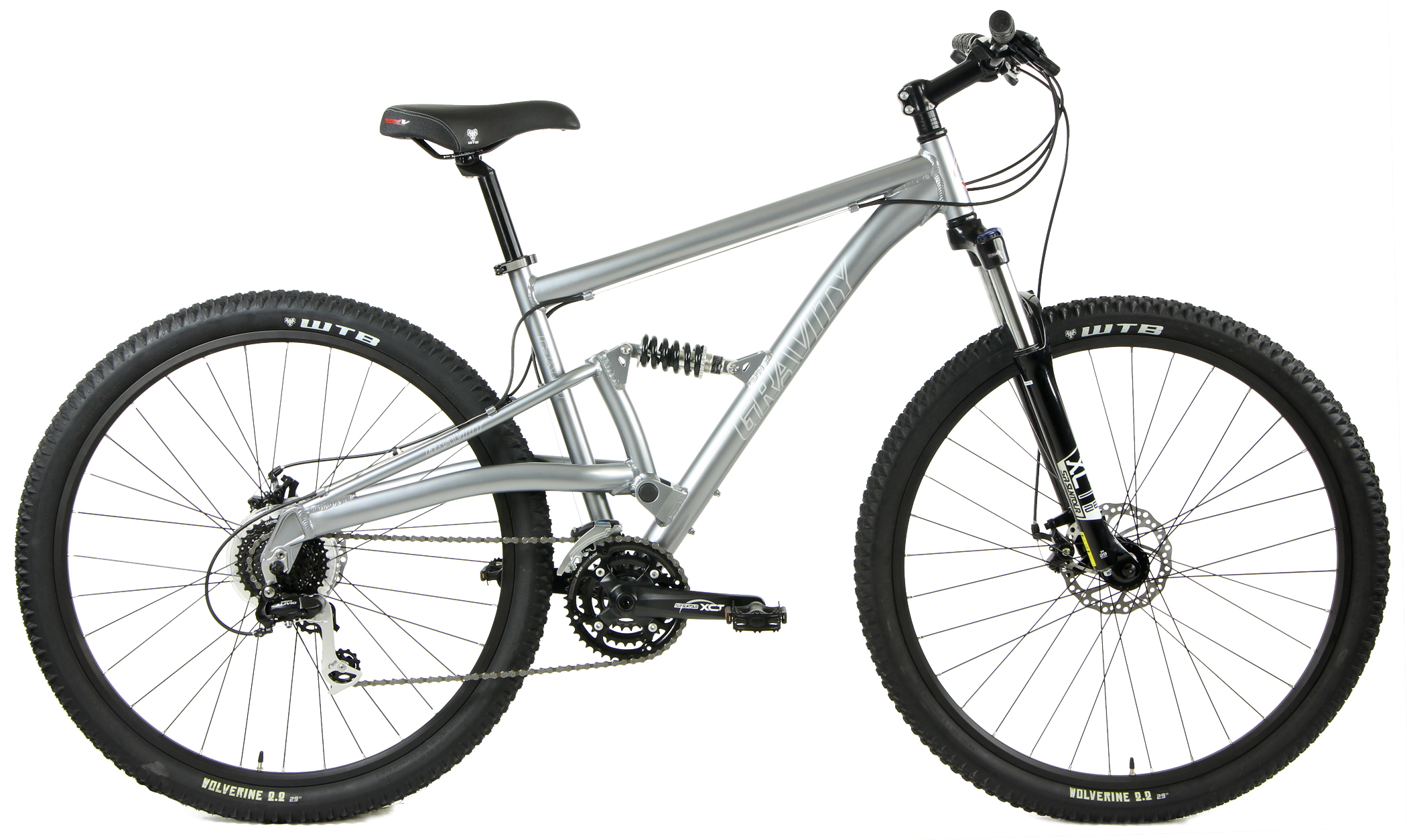 Bikes Gravity FSX 29 LTD Shmano 24 Speed Full Suspension Mountain Bike Image