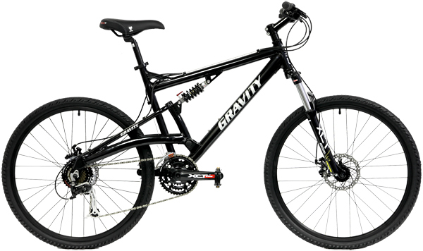 Bikes Gravity FSX 3.0 Shimano Deore 24Spd Full Suspension Bike Image