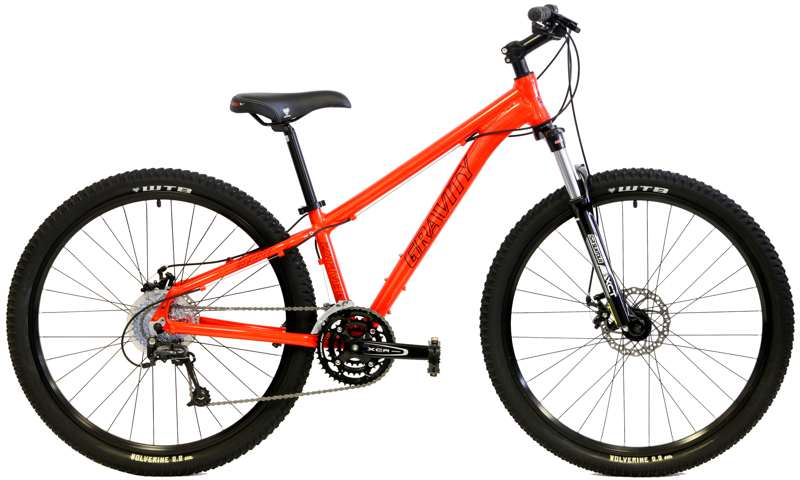 Bikes 2014 Gravity G27FIVE G1Suntour MLO Suspension Fork, Shimano 27 Speed 27.5 (650B) Mountain Bike Image
