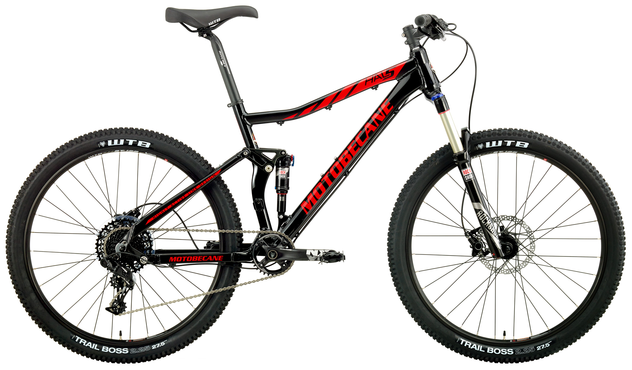 Bikes 2017 Motobecane Hal5 Sram NX 1 x 11 27.5 Dual Suspension Mountain Bike Image