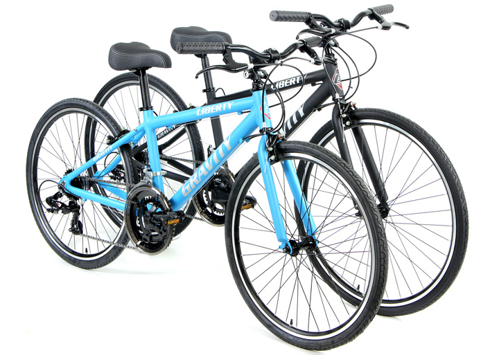 Gravity Liberty Express 24inch / 26inch Shimano 2X7 Speed Flat Bars Road Bike for Kids Image