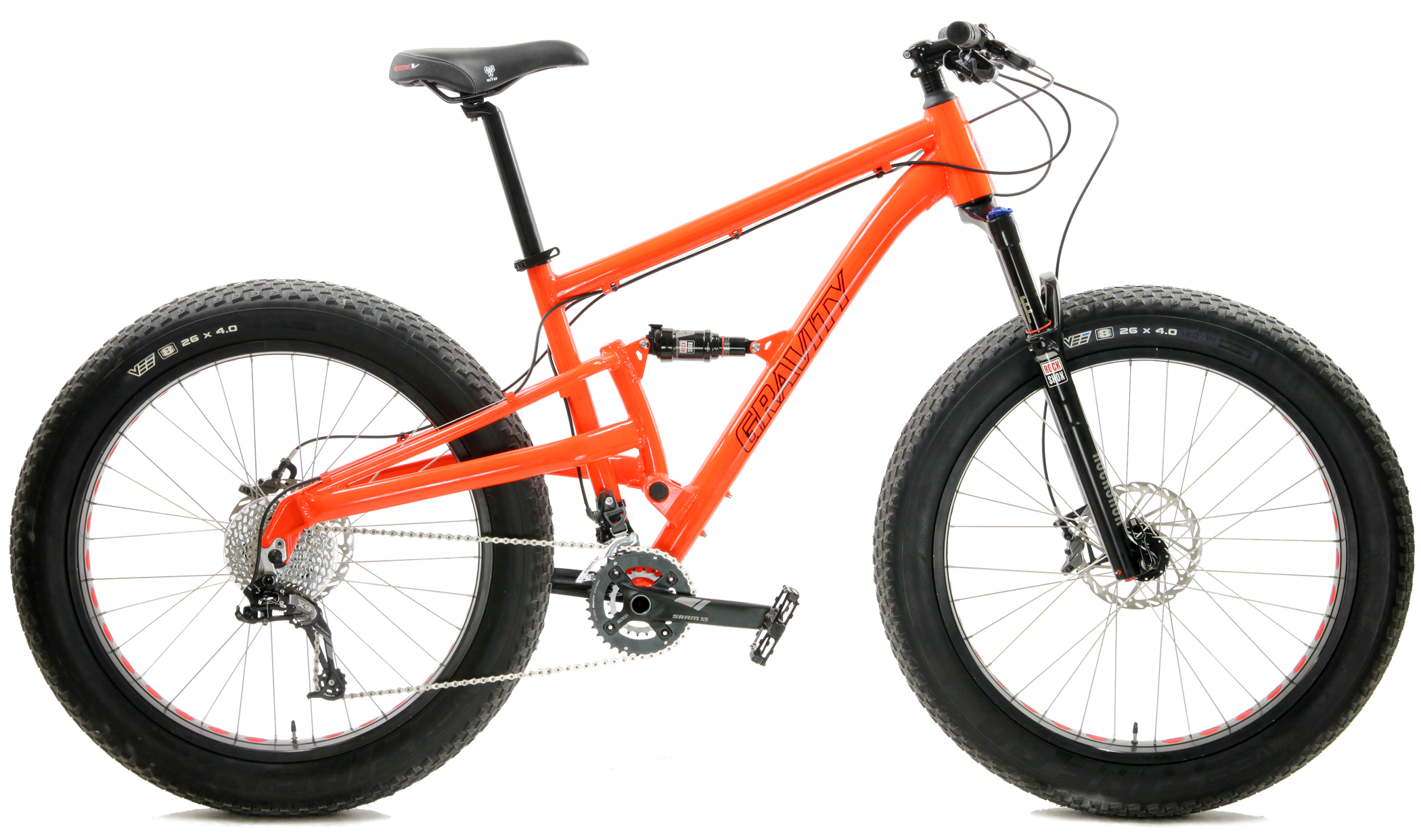 Bikes Gravity Quigley Full Suspension Fat Bike Bluto Equipped Image