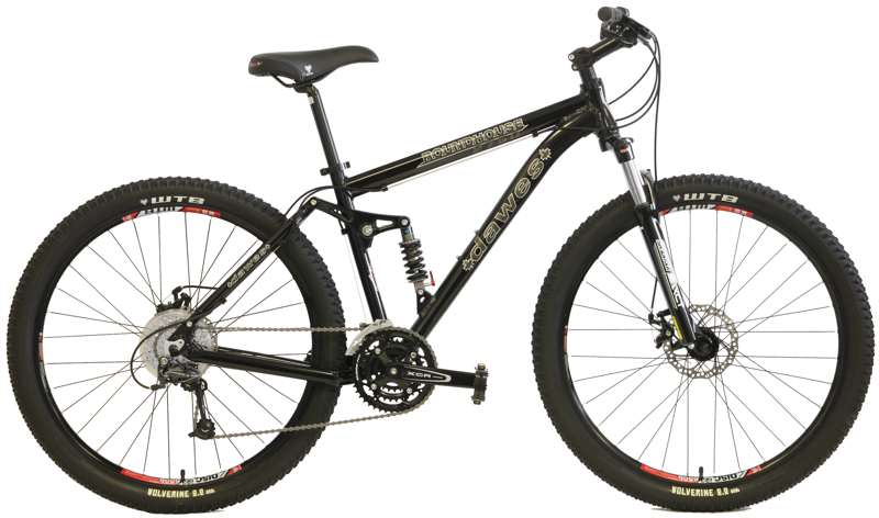 Bikes Dawes Roundhouse 2750 Suspension Fork, Shimano 27 Speed 27.5 (650B) Full Suspension Bike Image