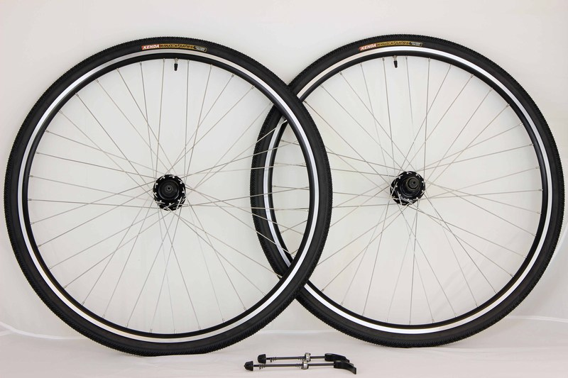 Parts 700c Gravity Touring Road Cross Disc Rim Brake Wheels With Kenda Tires Tubes Image