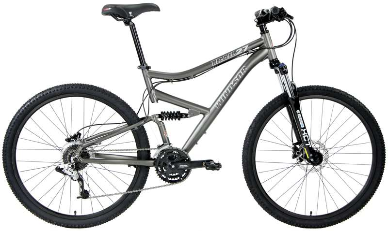 Bikes Windsor Trail 27 27.5 Full Suspension Shimano Equipped 24 Speed Mountain Bike Image